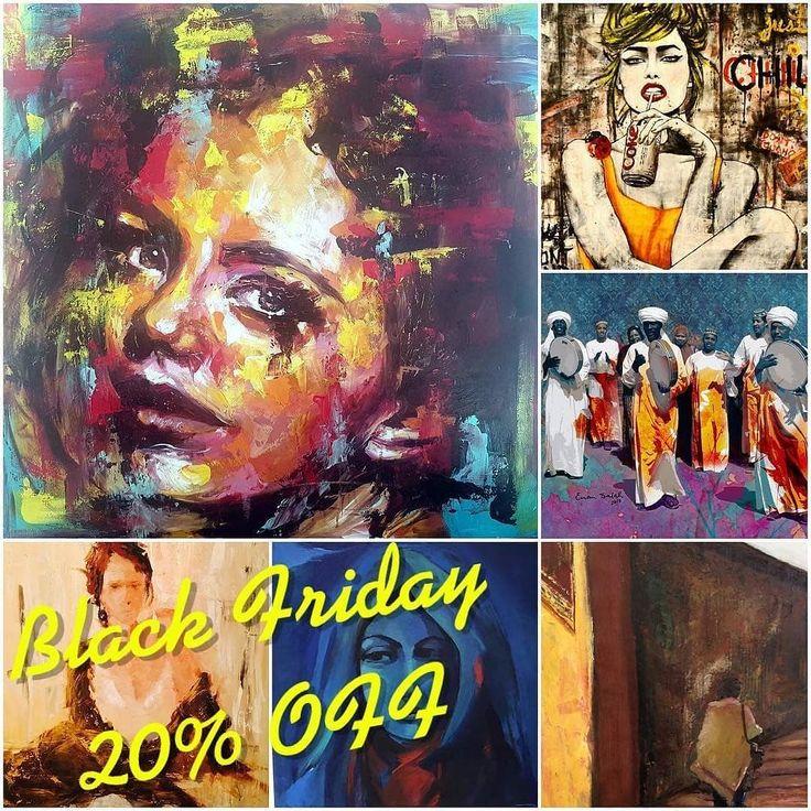 @Regranned from @cairoartshop -  Black Friday offer! Get 20% OFF any paintings on FRIDAY & SATURDAY ORDERS for the following artists @engyalgarf.art @gehankhorshid @mahi.tarek @mariamahdy @colorspire_art  @mhadart @sarahawary @myartgallerynt  ASK FOR YOUR SPECIAL PRICE NOW #blackfriday #artoninstagram #art #cairoartshop #cairo #egyptart #jumia #souq #artforsale #artlovers #artwork #oilpainting #acrylicpainting #fineart #modernart #whitefriday #flashsale #interiordesign #homedecor #cairoart…
