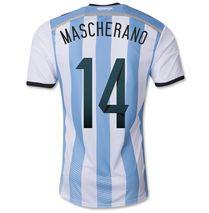 Argentina national team 2014 #14 MASCHERANO HOME SOCCER JERSEY [1402291612]