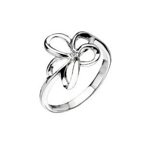 Hot Diamonds Plumeria Silver And Diamond Ring - Size K - http://www.wonderfulworldofjewelry.com/jewelry/hot-diamonds-plumeria-silver-and-diamond-ring-size-k-couk/ - Your First Choice for Jewelry and Jewellery Accessories