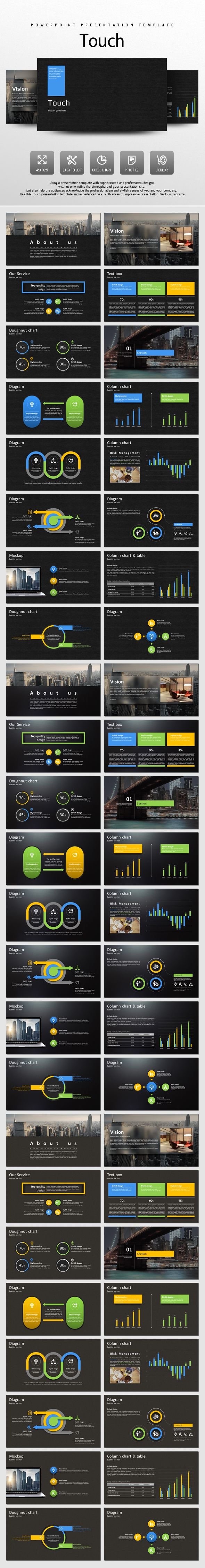 Touch PowerPoint Template #design #slides Download: http://graphicriver.net/item/touch/13105047?ref=ksioks