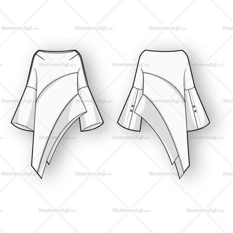 Women's Vector Flats For Fashion Design