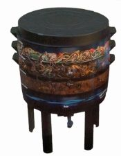 """Stacking Vermicomposter - worms move up through each bin as the compost finishes - """"tea"""" from bottom"""
