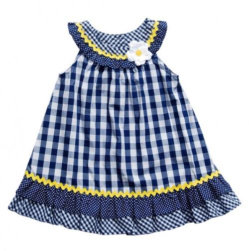 Gingham A-Line Dress