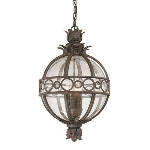 Campanile Bronze Three Light Outdoor Hanging Lantern Troy Outdoor Pendants Outdoor