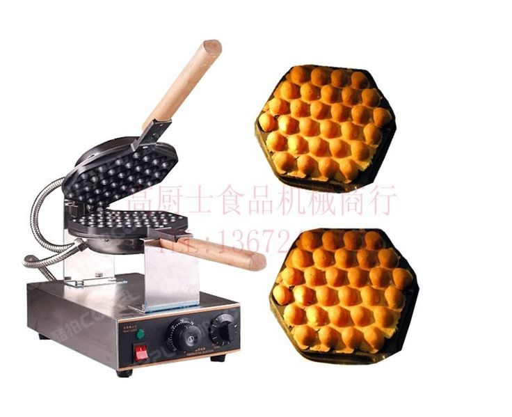 173.55$  Buy now - http://ali40t.worldwells.pw/go.php?t=32602854787 - Free Shipping ~110v 220v  Industrial Egg Waffle Maker  Egg puffs Bubbles Waffle makers