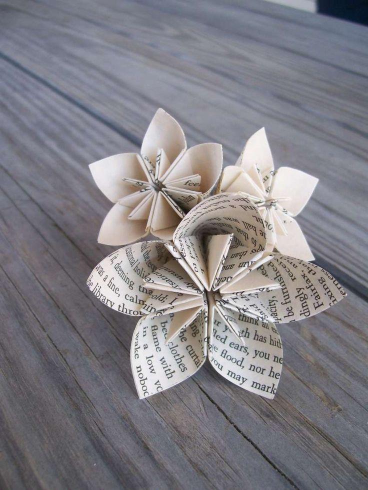 Lavoretti con la carta di giornale per bambini - Fiori con carta di giornale