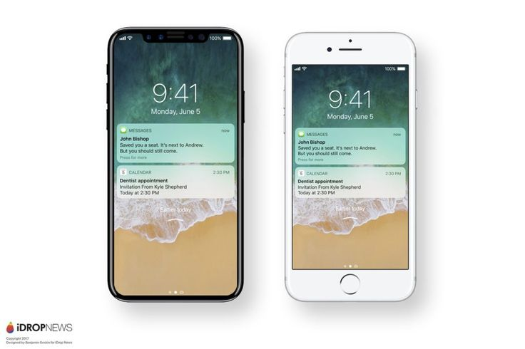 Wondering What An IPhone 8 Running IOS 11 Would Look Like The Latest Renders Have A Vertically Aligned Dual Camera System