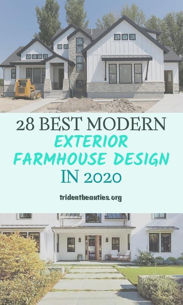 28 Best Modern Exterior Farmhouse Design In 2020 In 2020 Modern Exterior Farmhouse Design Luxury Homes Exterior
