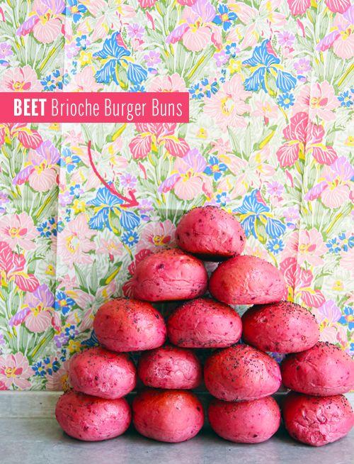 Beet Brioche Burger Buns // take a megabite