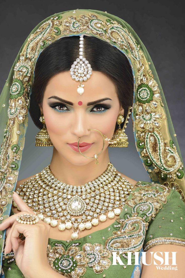 Go for all out bridal glamour. By Kaura Hair  Makeup   T: +44(0)7950 681 464  E: Kauramua@gmail.com  As seen in the Autumn 2013 Issue of Khush Wedding Magazine