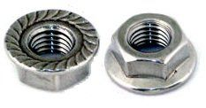 Flange Nuts Serrated 304 Stainless Steel