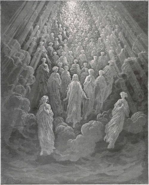 Gustave Doré (1832-1883), The Angels In The Planet Mercury, Illustration for La Divina Commedia by Dante Alighieri (1265-1321), Paradiso, Canto V