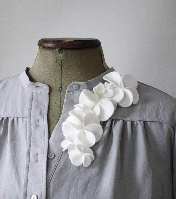 Felt flowers - frangipani