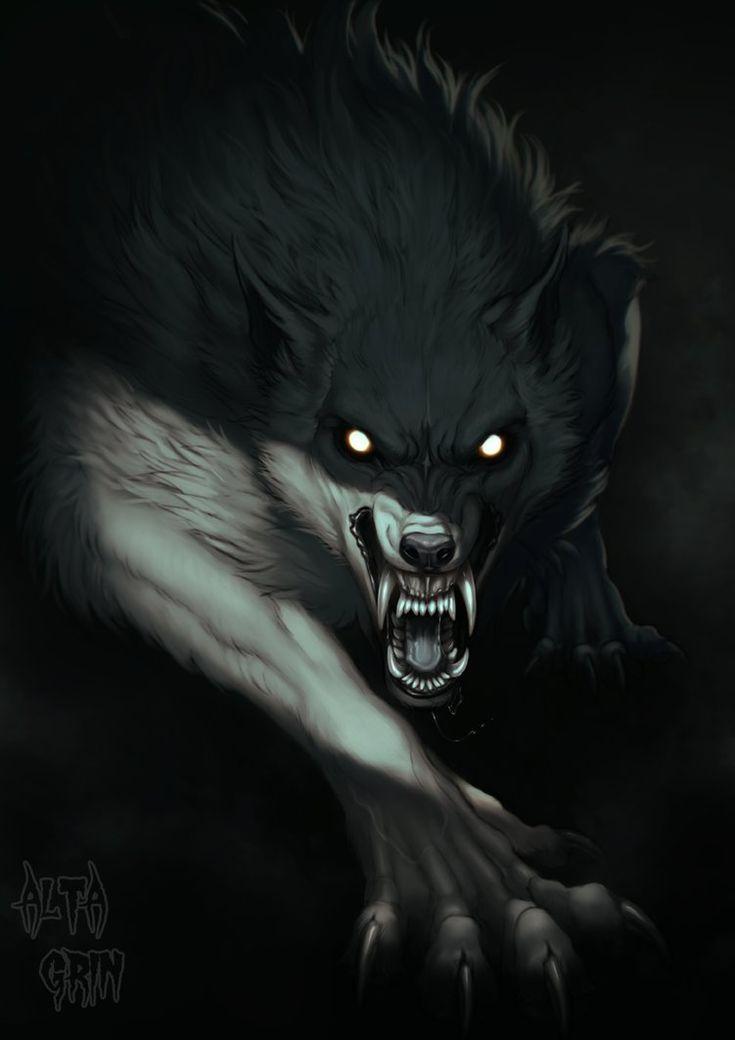 Epingle Par Vega Art Sur Animaux Legendaires Loup Garou Art Loup Garou Photographie Loup