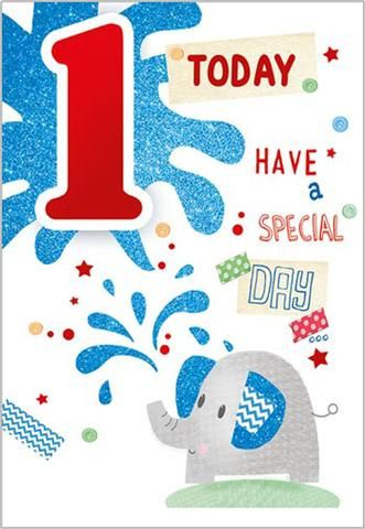 Happy 1st Birthday Card For A Boy Birthday Cards Age 1 To 12