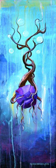 """""""Roots I"""" acrylic fantasy painting"""