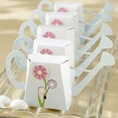 Garden Watering Can favour Box Kit with Flower Applique