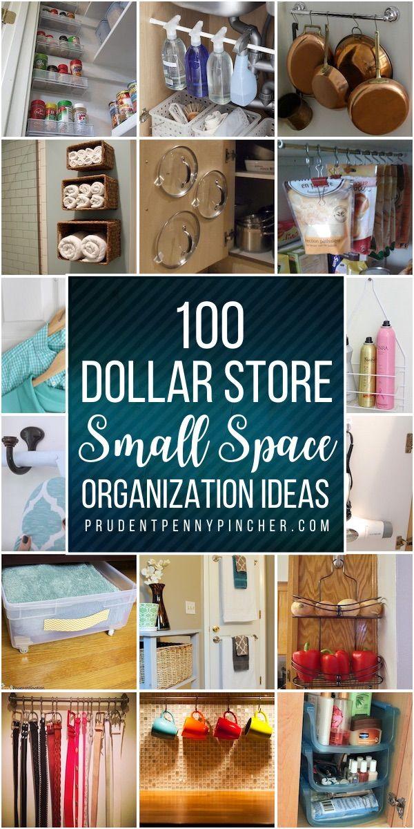 100 Dollar Store Organization Ideas For Small Spaces In 2020 Dollar Store Organizing Dollar Store Diy Organization Dollar Store Diy