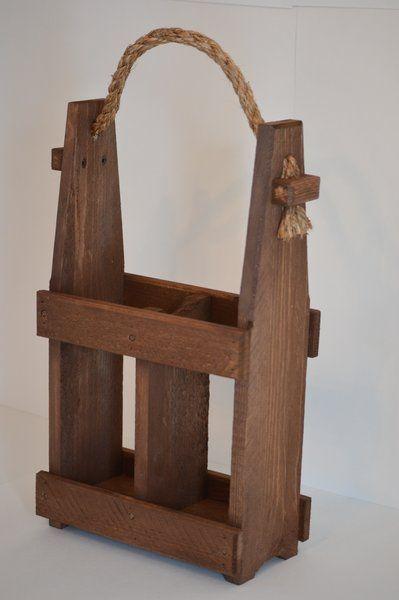 Wooden Wine Bottle Carrier   Wine Pallet Concepts