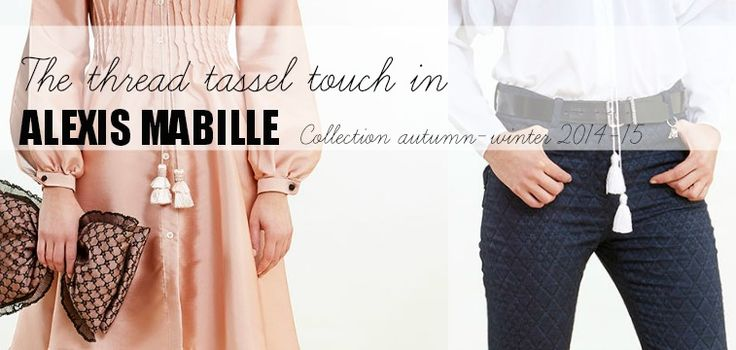 The thread tassel touch by Alexis Mabille