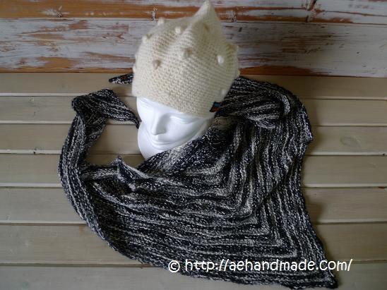 Stickad sjal gjord av mig!