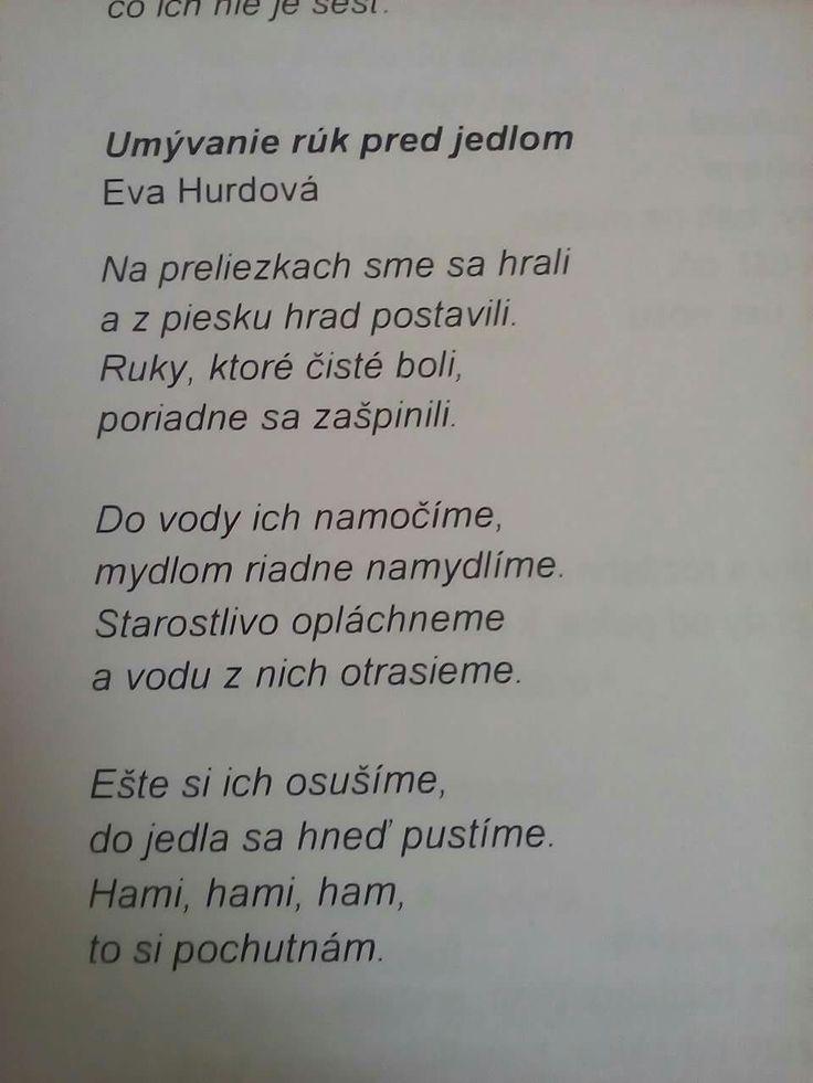 báseň o umývaní rúk