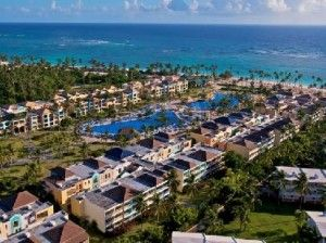 Aerial View Ocean Blue and Sand Punta Cana. 5 star all-inclusive resort. Watch for great deals on this place.