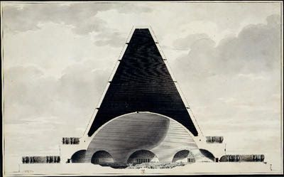 This is nice, yeah?: Etienne-Louis Boullée's Cenotaph for Newton & Lebbeus Woods proposed tomb for Albert Einstein