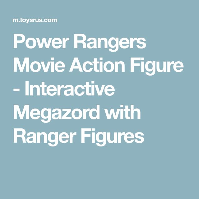 Power Rangers Movie Action Figure - Interactive Megazord with Ranger Figures