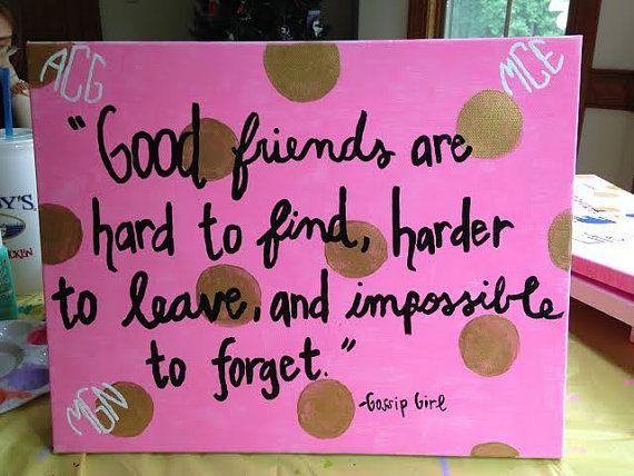 Best Friends Gossip Girl Custom Canvas by ClassyChicCanvas on Etsy