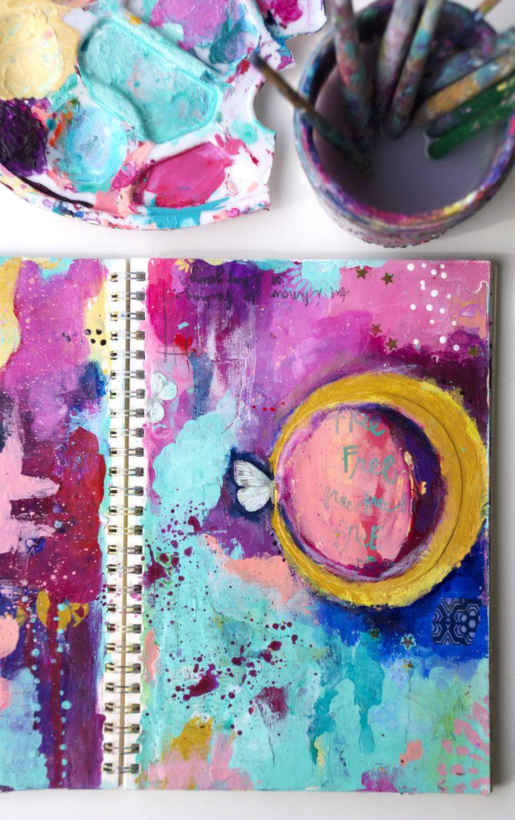 Art Journal Tutorial by Guest Artist Mary Wangerin @ Spmerset Place