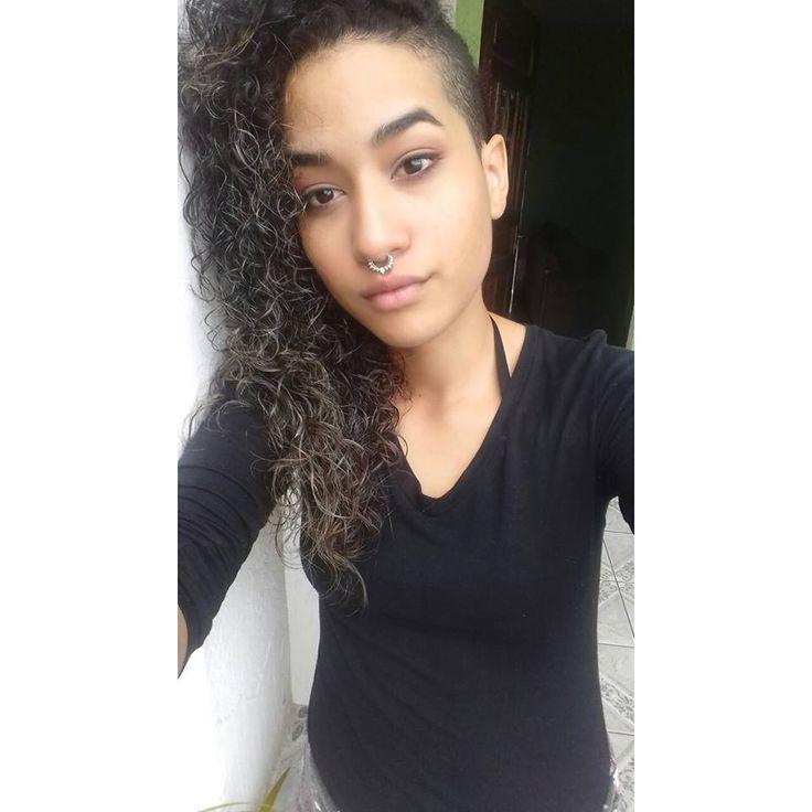 curly hair, side cut hair,  sidecut hair in curly hair can yes!