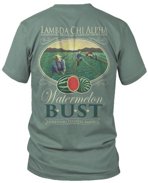 Lambda Chi Alpha Watermelon Bust T Shirt Fraternity