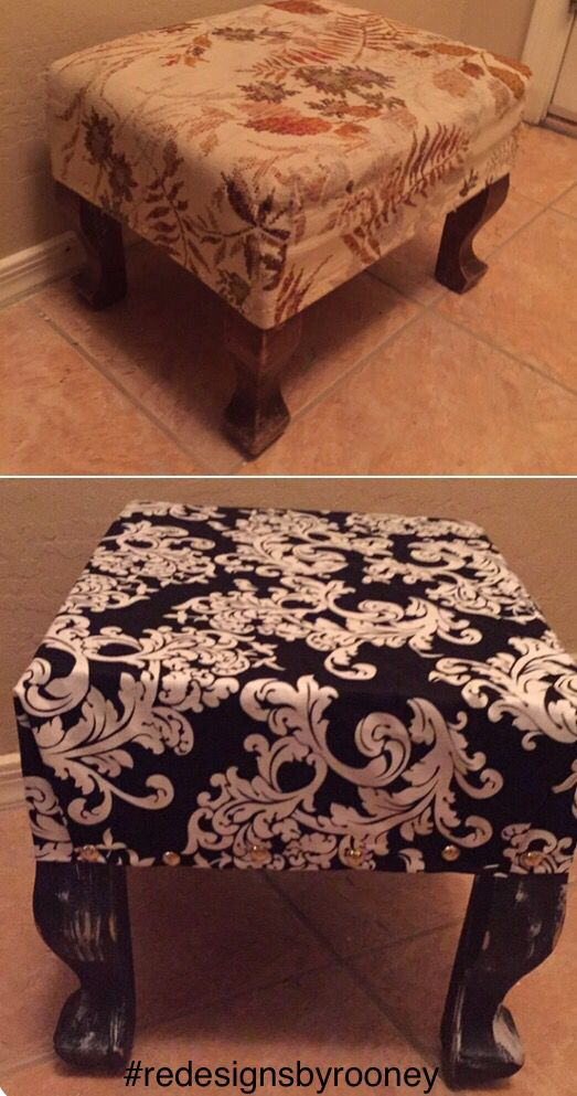 Repurposed foot stool #redesignsbyrooney