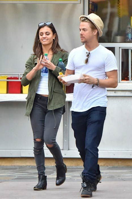 Derek Hough and Hayley Erbert at the Disneyland in April 2016...
