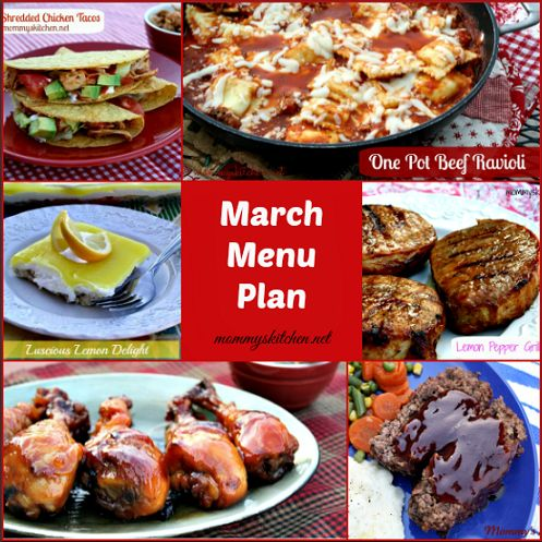 Mommy S Kitchen Old Fashioned Southern Style Cooking March Menu Menu Plan Monthly