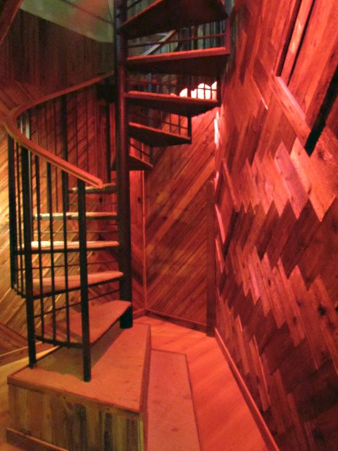 The Spiral Staircase Heading Up To The VIP Lounge At KMG Studios. PapaKMG  Does Excellent Work, He Did The Walls And Put In The Staircase.