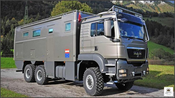 MAN TGS 26.480 6x6 Expedition Truck with large 3 door garage and luxurious interior.