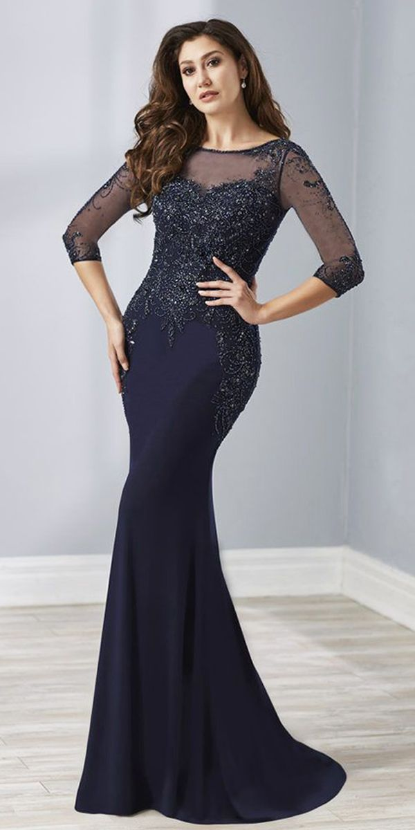 f5b9380388e1 Stunning Tulle   Chiffon Bateau Neckline Full-length Mermaid Mother Of The Bride  Dress With Beadings