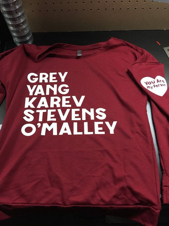 Grey's Anatomy Loose Slouchy Long Sleeve by KCustoms612 on Etsy