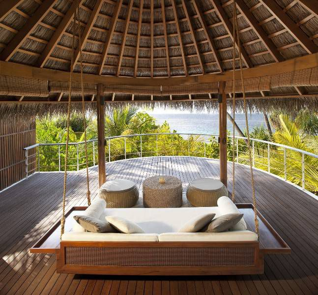 W Retreat and Spa, Maldives  The Seascape Escape spans 323 square meters of wow factor, where a entertaining areas take in breath-taking views over the horizon, an indoor/outdoor lounge holds comfy couches, a dining table for six, and a huge adjoining sundeck with oversized infinity pool.