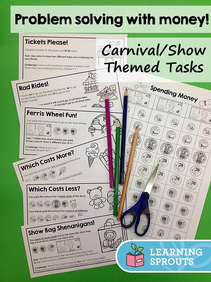These carnival/show themed Australian money problem solving tasks are highly motivating! Easy to use and provided at 3 different levels for year 1 - 3 students. Perfect to use during Royal Show week!