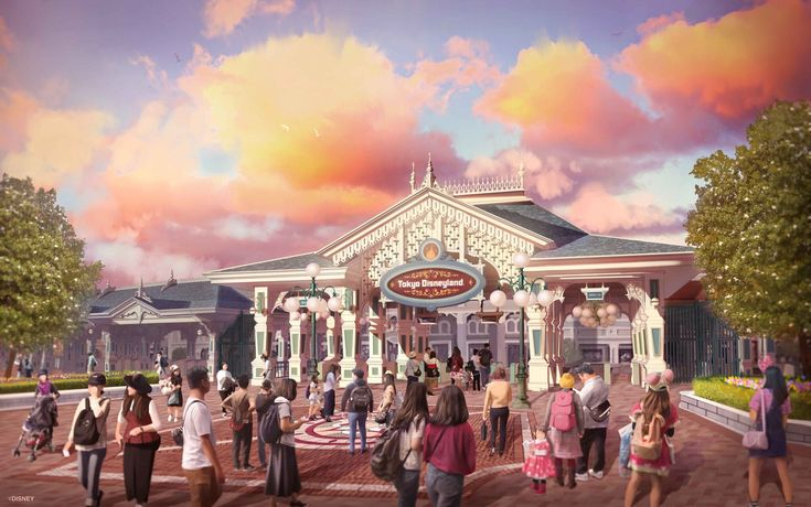 New Concept Art Released for Updated Tokyo Disneyland Entrance - WDW News Today