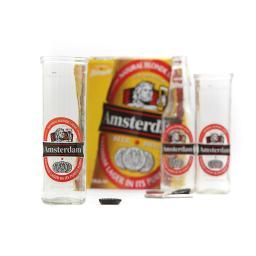Amsterdam Blonde, Upcycled Beer Glass- Awesome beer glass made from an Amsterdam Blonde beer bottle! Made in Canada.