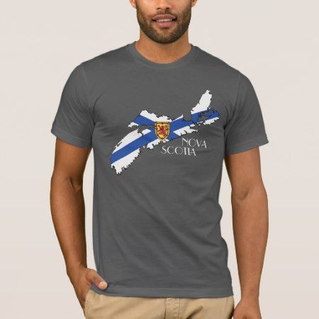 Nova Scotia Flag-Map T-Shirt - tap, personalize, buy right now!