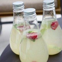 Citronnade au gingembre, menthe et framboises