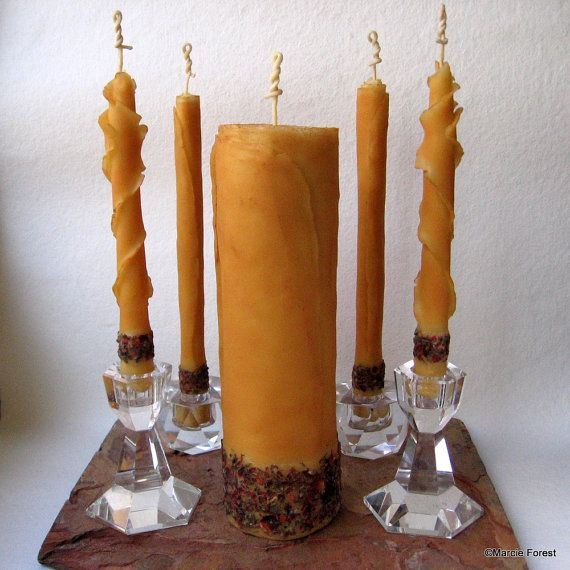 Organic E Rose Unity Candle Set Ooak Pure Beeswax Wedding Candles Handmade By Forestcandlestudio