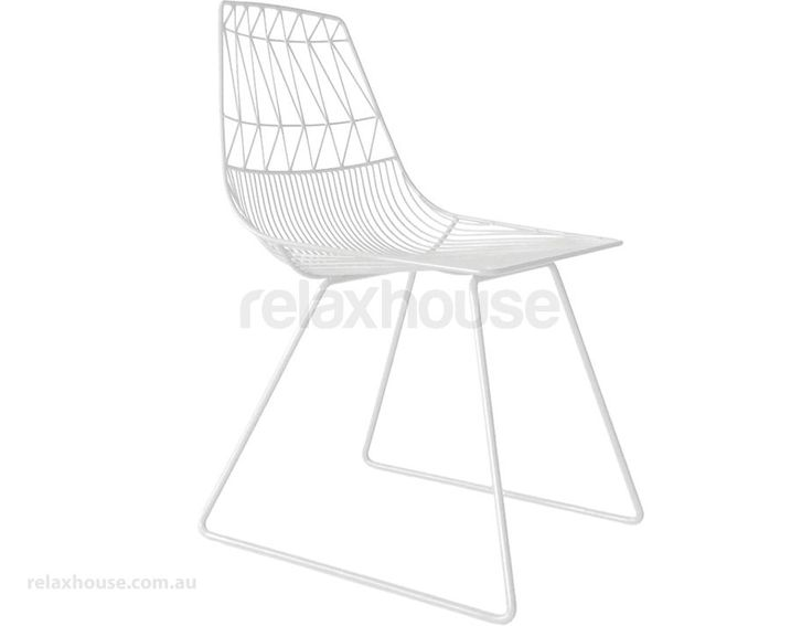 White Wire Indoor Outdoor Dining Chair