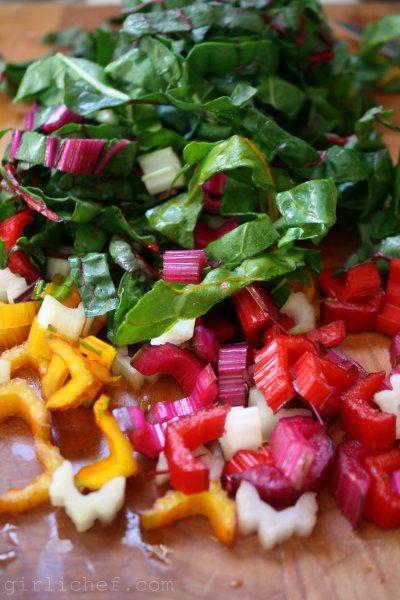 girlichef: Stir-Fried Rainbow Chard