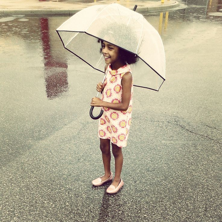 shielded from the rain